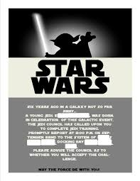 star wars birthday invite template star wars invitations template google search party star wars