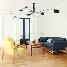ref p6b ceiling lamp 6 rotating arms serge mouille 1958
