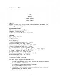 resume example stay at home mom artist resume objective