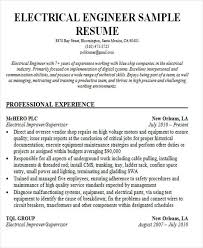 Best Resume Format For Electrical Engineer Free Download