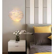 feather wall sconces bedroom bedside