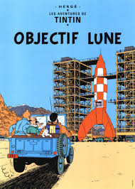 Framed Tintin Covers Objectif Lune Tintin In 2019 Tintin