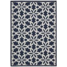 nourison caribbean navy 5 ft x 7 ft indoor outdoor area rug