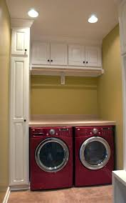 laundry room furniture. impressive design for contemporary laundry room with small lamps and red modern washing machine pastel furniture