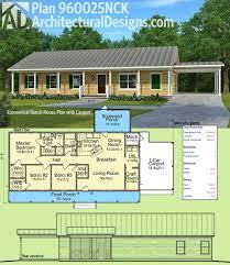 plan 960025nck economical ranch house plan with carport