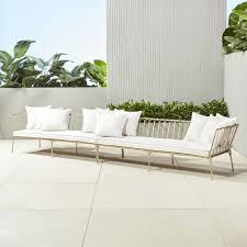 cb2 patio furniture. le rve left armright arm sectional with ten pillows cb2 patio furniture