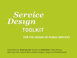 Engine Service Design Service Design Toolkit