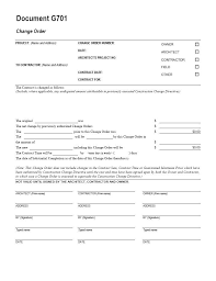 Change Of Address Template Free Aia G701 Change Order Form Template For Excel Change Order Form