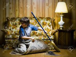 Image result for sweeping out from under a rug