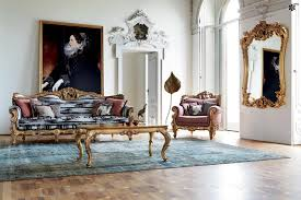 Living Room Mirrors Decoration Dazzling Victorian Style Living Room Design With Artistic Gold