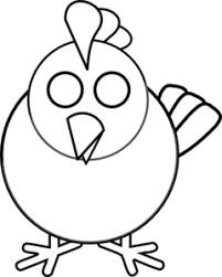 chicken clip art black and white. Delighful Clip Black And White Chicken Clip Art With A