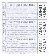 Event Ticket Free Template Free Printable Event Tickets Savebtsaco