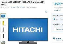 hitachi le55g508. hitachi le55g508 55\u2033 1080p led-backlit hdtv for $498.00 shipped. le55g508 t