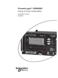 powerlogic ion 8800 installation guide 052007 battery electricity