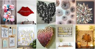 ... Wall Art, Amazing Canvas Wall Art Ideas Diy Canvas Art Ideas 16 Diy  Wall Decor ...