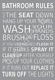 bathroom rules wall art glossy poster print light grey https  on amazon uk black and white wall art with bathroom rules wall art glossy poster print light grey https