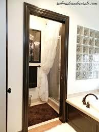 glass shower curtain ruffled curtain over glass shower door by glass shower panel with curtain rod