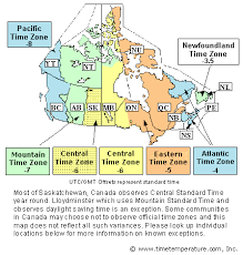 Pst To Est Chart Canada Time Zone