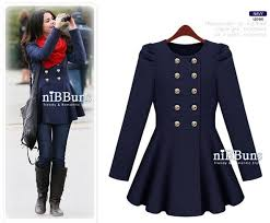 blue elegant skirt style puff windbreaker pink dark blue beige long sleeve nepalese wool coat for winter 1pcs free