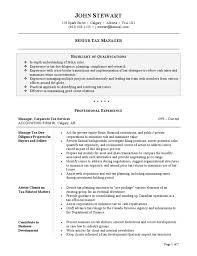 Tax Resume