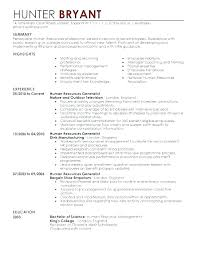 Human Resources Resume Sample Custom Resume For Human Resources Thian