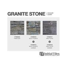 Quartz Stone Colour Chart Rusty Quartz Stone Cladding Corners 550x150