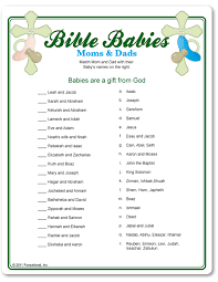 Bible Babies shower game. | Baby | Pinterest | Baby Shower, Baby ...