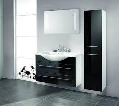 elegant black wooden bathroom cabinet. awesome home bathroom design ideas with cool black interior scheme modern elegant shiny floating vanity combinated wooden cabinet o