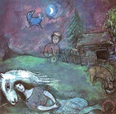 rural landscape painting marc chagall rural landscape art print