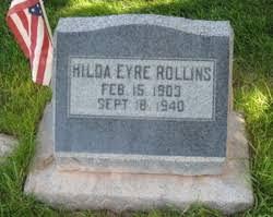 Hilda Eyre Rollins (1903-1940) - Find A Grave Memorial
