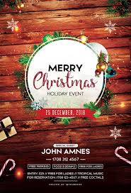 Merry Christmas 2018 Free Psd Flyer Template Christmas