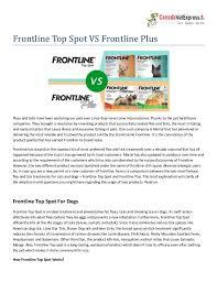Frontline Plus Vs Frontline Top Spot
