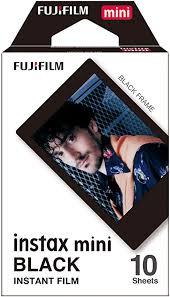 <b>instax Black</b> Border <b>Mini Film</b>, 10 Shot Pack: Amazon.co.uk: Camera ...