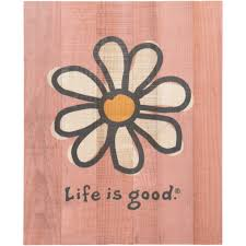 painting flowers daisuy life is good wall art minimalist vintage wood sign perfect hanging homesteadd decorations
