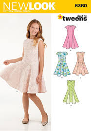 Patterns For Dresses New Amazon New Look Patterns UN48A Girls' Sized For Tweens Dress