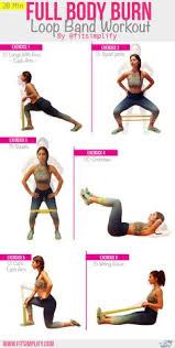 Stretch Band Loops Exercise Chart Mini Band Exercises