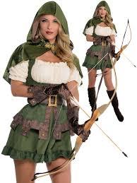 details about las y robin hood costume s maid marion fancy dress meval archer