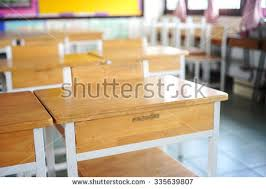 classroom desks and chairs. Empty Student Desks And Chairs In The Classroom