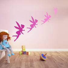 fairy wall sticker pack fantasy wall decal girls bedroom nursery home decor