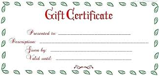 Christmas Gift Coupon Gift Certificate Gift Certificate Templates Word Free