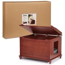 hidden cat box furniture. amazoncom meow town windsor cat litter bench box cabinet mahogany pet supplies hidden furniture d