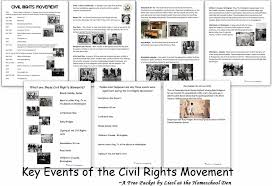 Key Events of the Civil Rights Movement (Free Packet) - Homeschool Den