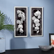 on white orchid framed wall art with orchid pictures wayfair