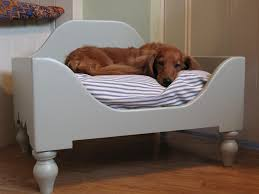 wooden rustic dog bed