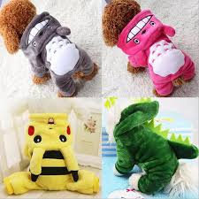 Cartoon <b>Pet Dog</b> Clothes <b>Winter</b> Warm Fleece Chihuahua Coat ...