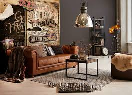 industrial style living room furniture. Einrichten Im Used Look - Industrial Living, Style Mit Coolen Lampen, Rustikalen Accessoires Und Einem Chesterfield Sofa Alles Von Möbel Living Room Furniture L