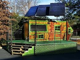 Small Picture Solar Powered Tiny House on Wheels with StageDeck for Mobile
