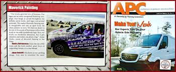 our truck is getting national attention maverick painting s wrap design was featured in american painting