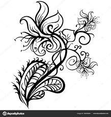 ручной татуировки обращается цветы лилии эскиз вектор векторное
