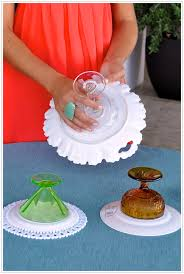 ... diy cake stand vintage compote plate dessert - camille styles events ...